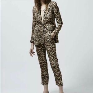The Kooples Jackets & Coats - The Kooples peak petal leopard print blazer size 6
